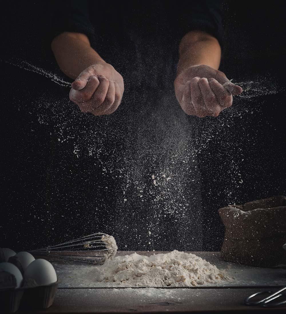 verse pasta maken met bloem, eieren, water en vakmanschap